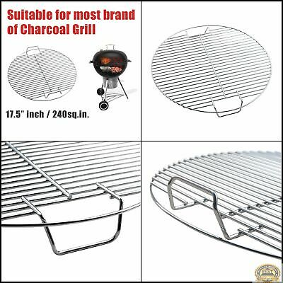 Grille Ronde Acier Inoxydable BBQ Barbecue Grill Camping Neuf