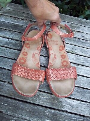8d8a646889c CLARKS ACTIVE AIR Pink Leather Ballet Flats   Slip On Comfort Shoes ...