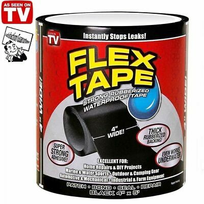 "4"" X 5' Flex Tape Patch Bond Super Strong Rubberized Waterproof Seal Repair Tape"