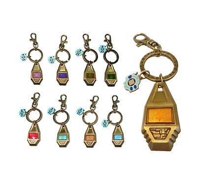 Official Digimon Adventure Crest Tag & Digivice Keychain Keyring Complete SET