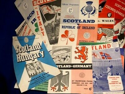 13 DIFF SCOTLAND HOME PROGRAMMES 1958 to 1964 CHOOSE FROM LIST