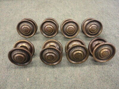 Set Of 8 Brass Door Knobs & Plates