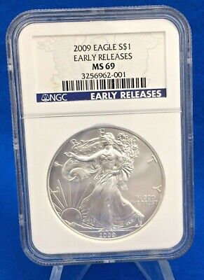 2009 American Silver Eagle .999 Silver NGC MS69 Early Releases