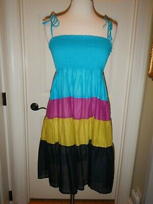Small Banana Republic Turquoise, Pink Light Weight Smocked Dress