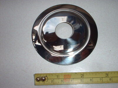 A 75 mm SPUN CHROME PLATED TABLE LAMP PARTS / VASE CAP / BACK PLATE (BPL 14)