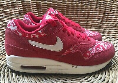 best website c8dde 1c440 Liberty London X Nike Air Max 1 Womens Red White Floral Trainers UK 3 EU 36