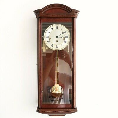 HERMLE AMS German WALL CLOCK DESIGN! WESTMINSTER Chime 3 CRYSTALS TRANSLUCENT