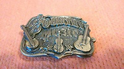 "1982 "" Country Music "" Belt Buckle By The Great American Buckle Co."