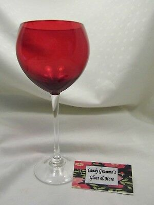 LENOX HOLIDAY GEMS ~RUBY RED~ Balloon Goblets Red Wine Glass