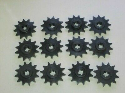 """12 Of #41 Pitch Front Drive Sprocket Gear X 12 Teeth 1/2"""" X 1/4"""" Chain Go Kart"""
