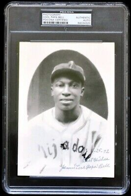 James Cool Papa Bell Signed Negro League 5x7 Photo dated from 1972 PSA/DNA COA