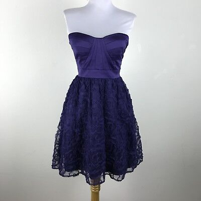 007db372adb Hailey Logan by Adrianna Papell Dress Size 1/2 Prom Party Purple Tulle  Soutache