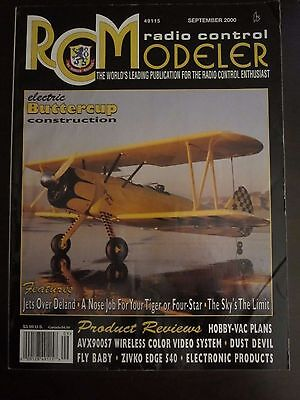 RCM RADIO CONTROL Modeler Magazine September 2000 Electric Buttercup (I)