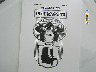Splitdorf Dixie Model 235 Oscillating  Magneto Instructions/Operating Manual