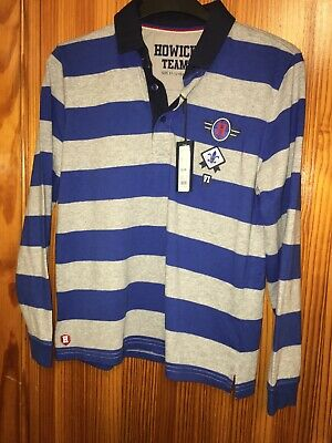 Howick Striped Long Sleeve Top Boys Size 11-12 Years Rugby Polo Top