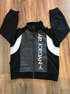Air Jordan Toddler Track Jacket Black White Size 2T