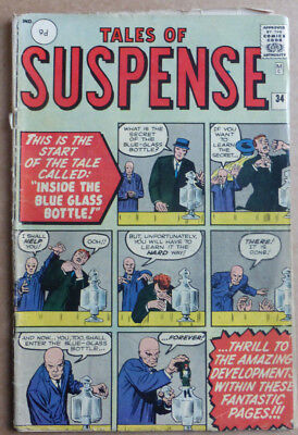 Tales Of Suspense #34, Early Marvel With Stan Lee & Jack Kirby Art, 1962!!