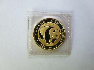 1983 1/10 oz China Gold Panda 10 Yuan Chinese Coin sealed