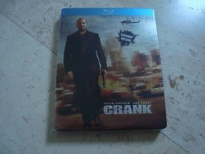 CRANK Extented Version Limited Edition Blu-Ray SteelBook Jason Statham Amy Smart
