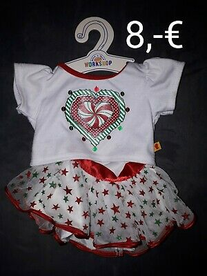 Teddys Build A Bear Kleidung Outfit 5-teilig Rock Shirt Weste Sneakers