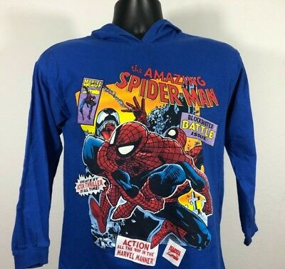 71983915 Vintage Spider Man Tie Dye Hoodie Shirt Double Sided Graphic Marvel 1993  Kids
