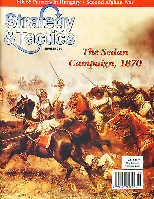Stategy & Tactics with The Sedan Campaign 1870 game inc. Map & counters (unpu...