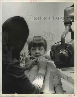 1971 Press Photo Trey Harbour Gets X-Ray at Houston Dentist Office - hcx02528