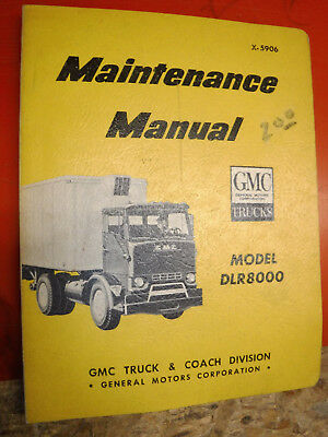 1959 gmc model dlr8000 truck maintenance manual service original
