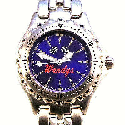 Wendy's Rare Lady Fossi Blue Dial, Unworn,Water Resistant, Metal Band Watch! $89
