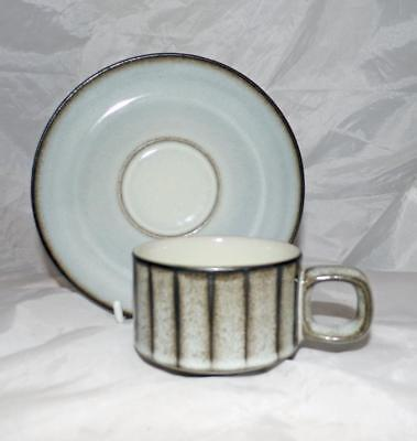 Bourne Denby Pottery Studio Pattern Coffee Cup & Saucer made in Stoneware