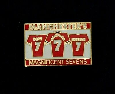 391669916 MANCHESTER UNITED  MAGNIFICENT 7 s Official Badge Set Boxed - Brand ...