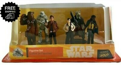 Disney Solo: A Star Wars Story Han Solo Figure Play Set 6 Piece Chewbacca Qi'Ra