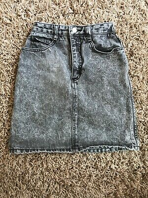 Vintage Guess Washed Denim Jean Skirt Girls  Size 12