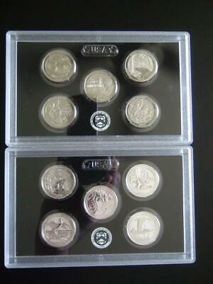 2018 Reverse Proof Silver 2017 Enhanced Uncirculated ATB S Quarter Sets 10 Coins
