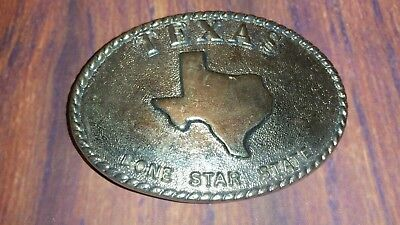 Western Silver Belt Buckle Texas Lone Star State Belt Buckle