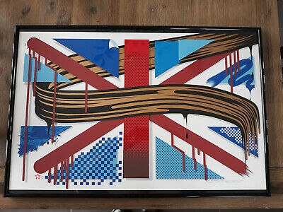 D*Face Lithographie Union Jacked Print - Street art Banksy OBEY Kaws PEZ Invader