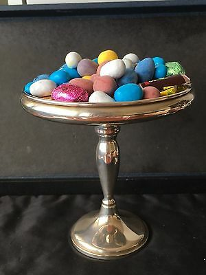 """ANTIQUE STERLING SILVER COMPOTE / CANDY / BON-BON DISH,  FISHER, 5.75"""" tall, 925"""