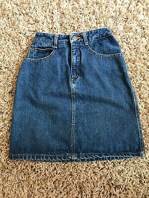 Vintage Guess Washed Denim Jean Skirt Girls  Size 10