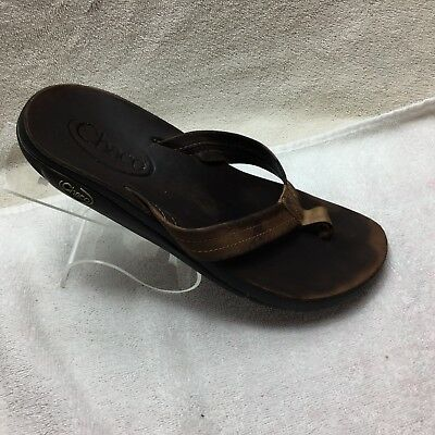 8020919ed0d5 CHACO BROWN LEATHER Flip Flops Shoes Sandals Women s 10W -  19.99 ...