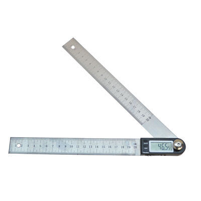 "11"" Electronic Digital Protractor Goniometer Angle Finder Miter Gauge Ruler"