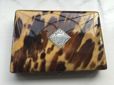 Antique Faux Blonde Tortoiseshell Visiting Card Case circa 1900