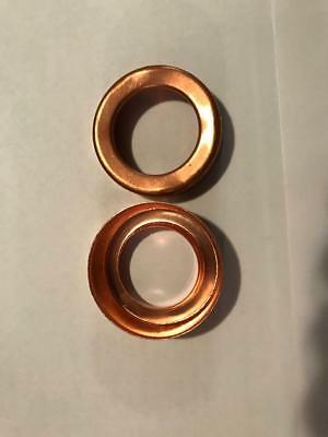 """2 Lightning rod ball end caps 1 3/8"""" medium set solid copper new replacement"""
