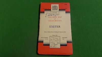 Sheet 176 Exeter Cloth OS Map One Inch Ordnance Survey 7th Series