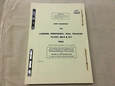 FV432 CARRIER, PERSONNEL, FULL TRACKED MK2 and MK2/1 - 1965 USER HANDBOOK