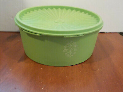 Vintage SERVALIER Stacking CANISTER 8 Cup #1204 Lime Green FREE SHIPPING