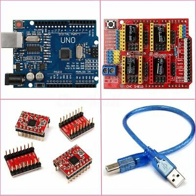 Board Shield +A4988 Stepper Drivers For Arduino Engraver CNC Motor Stock Gift