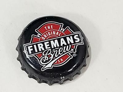 b42ffccf4fc Black Firemans Brew Brewing Company Beer Bottle Cap Crown Brewery