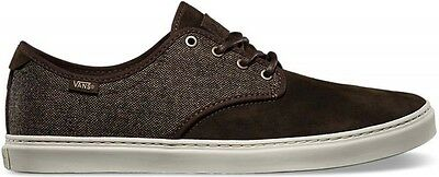 Vans Off the Wall OTW Ludlow Tweed Brown Turtle Dove Shoes Mens 6.5 Suede Sk8