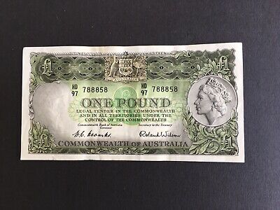 Australia 1 pound  Coombs/Wilson 1954, nice banknote gVF