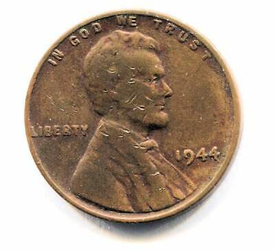 U.S. 1944 P Lincoln Wheat Penny - American One Cent Coin - Philadelphia Mint